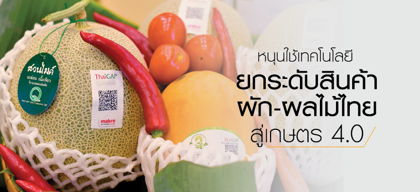 หนุนใช้เทคโนโลยี ยกระดับสินค้าผัก-ผลไม้ไทย สู่เกษตร 4.0