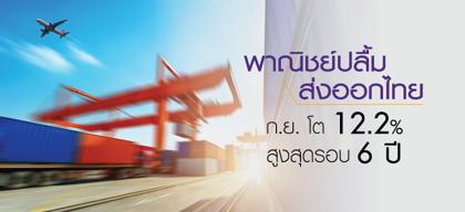 พาณิชย์ปลื้ม ส่งออกไทย ก.ย. โต12.2% สูงสุดรอบ 6 ปี