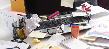 Minimise clutter to maximise productivity