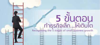 5 ขั้นตอนทำธุรกิจเล็กให้เติบโต