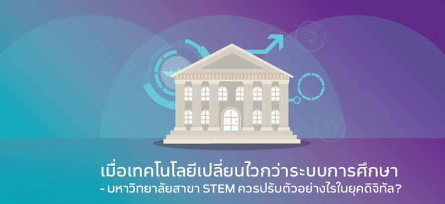 เมื่อเทคโนโลยีเปลี่ยนไวกว่าระบบการศึกษา – มหาวิทยาลัยสาขา STEM ควรปรับตัวอย่างไรในยุคดิจิทัล?