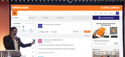 UnionBank unveils GlobalLinker, an online platform for MSMEs