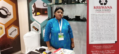 Woman engineer manufactures and exports plastic & recyclable rubber products