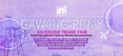 Gawang-Pinay: An online trade fair featuring women-led enterprises