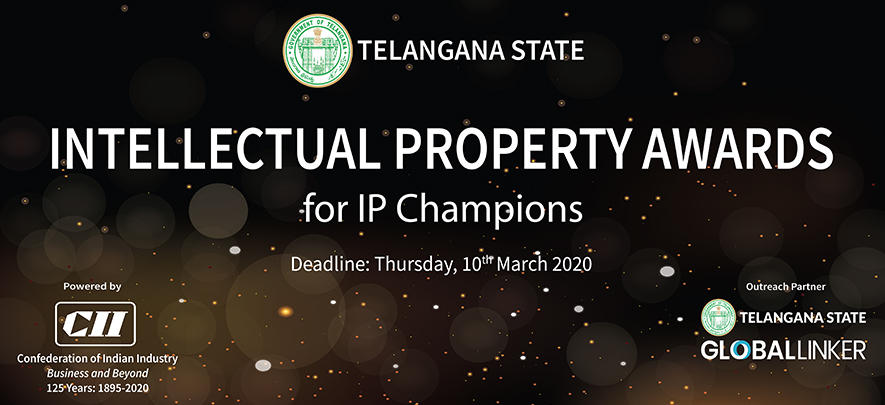 Don't miss your chance to apply for the Telangana State Intellectual Property Awards (TS-IPA) 2020!