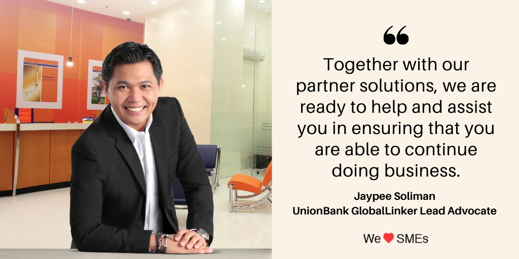 A message from the UnionBank GlobalLinker Lead Advocate