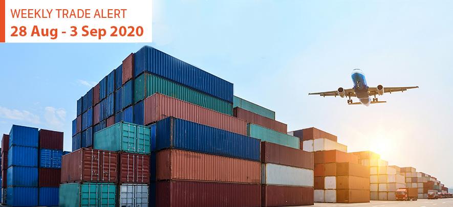 Weekly Trade Alert: 28 August – 3 September