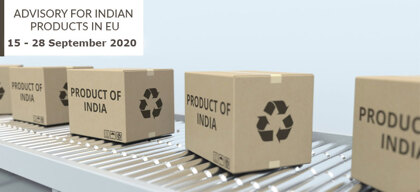Advisory for Indian products in EU: 15 – 28 September 2020