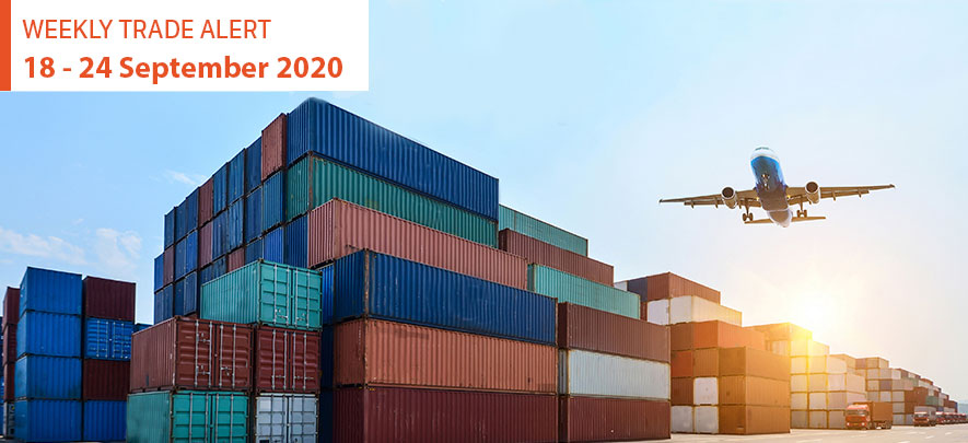Weekly Trade Alert: 18 - 24 September