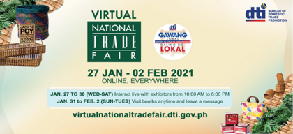 DTI to hold first-ever Virtual National Trade Fair