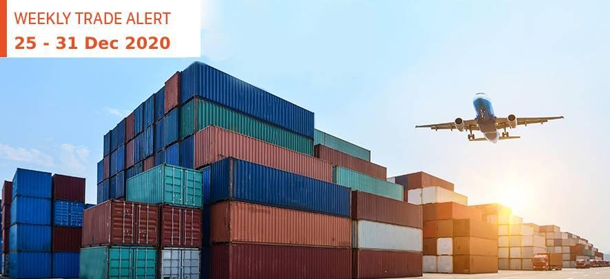 Weekly Trade Alert: 25 – 31 December
