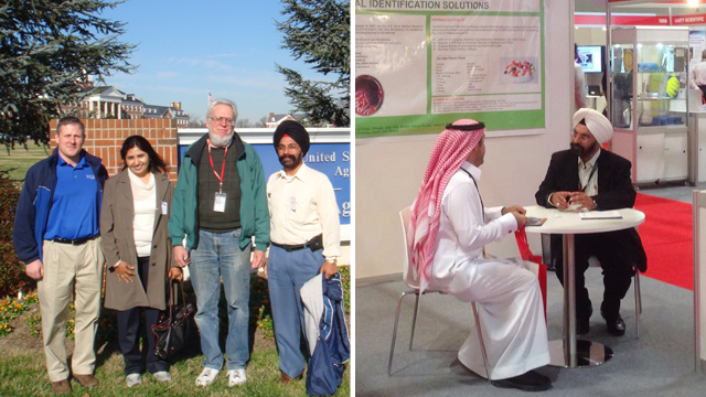 Dipender Singh attending various seminars and conferences