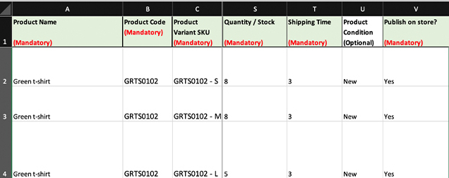 Stock, shipping time and product condition