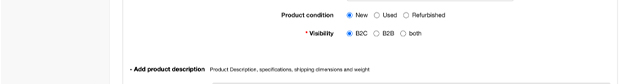 Product condition and product visibility