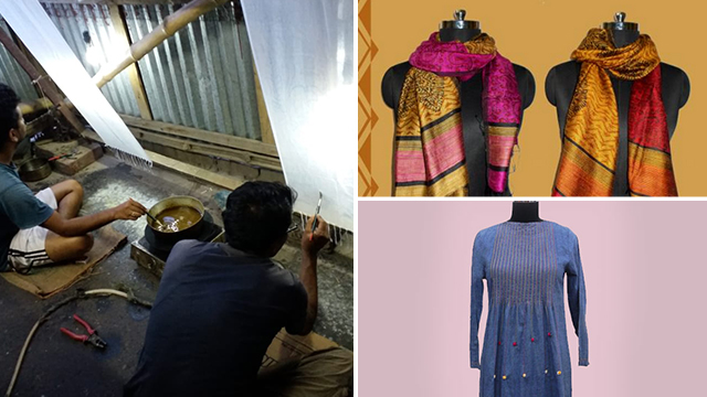 Luxe Living products, handloom apparel