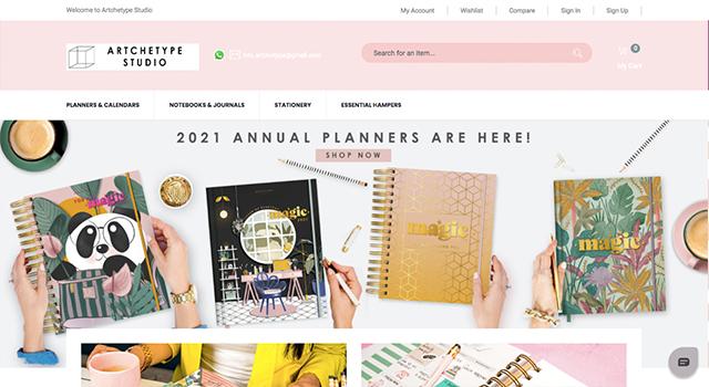 Artchetype studio annual planners