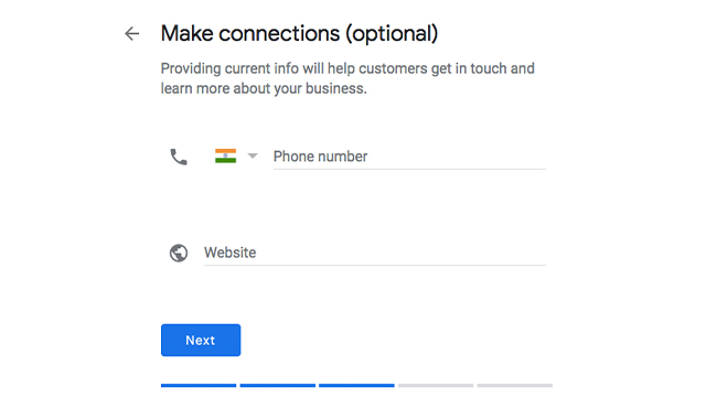 Google make connections step