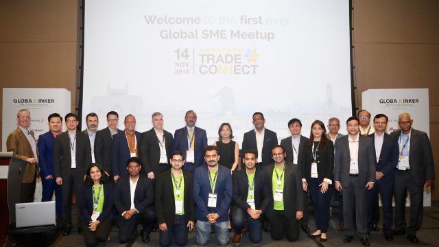 Organizers and speakers from DigiVation, UnionBank of the Philippines, Jet Airways, Network Trade Platform Singapore and Federation of Indian Exports Organisations at the first ever Global SME Meetup at Singapore Trade Connect
