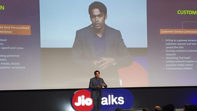 Sripal Jain from Simandhar Education LLP at Reliance Jio corporate training