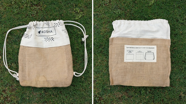 Kosha's environment friendly packaging