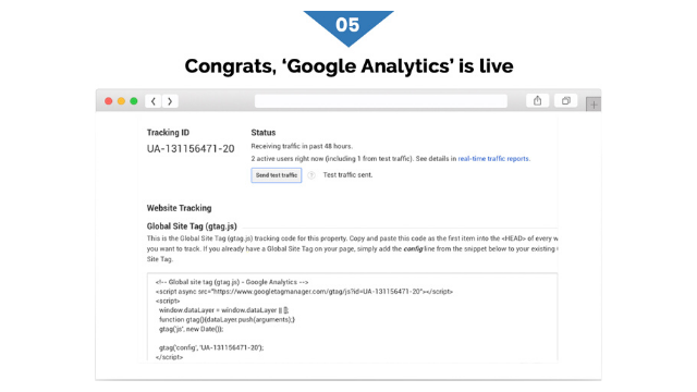steps to enable Google Analytics to eCommerce store